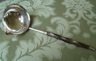 Small Antique Solid Silver Georgian 18thc Toddy Ladle photo
