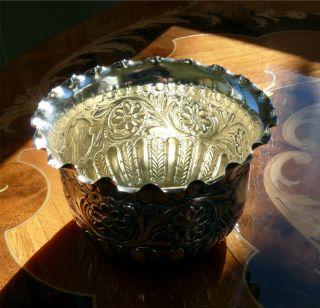 English Sterling Silver Ruffled Rim Bonbon Dish Cup James Dixon 1889 Sheffield photo