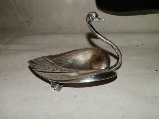 Antique Sterling Silver Tiffany & Co Figural Swan Bowl Dish M Mark Swimming Swan photo