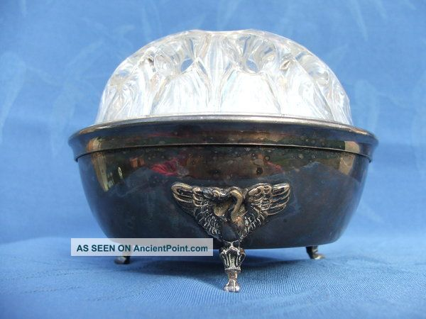 Vintage French Posy / Rose Bowl Silver Plated By Plasait Orfevre Vases & Urns photo