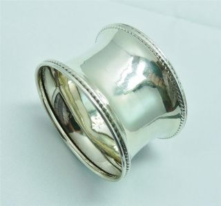 Antique 1924 Solid Silver Napkin Ring By Rolason Brothers photo