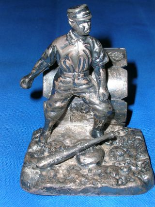 Antique Victorian Pairpoint Silverplate Baseball Player Napkin Ring Silver Plate photo