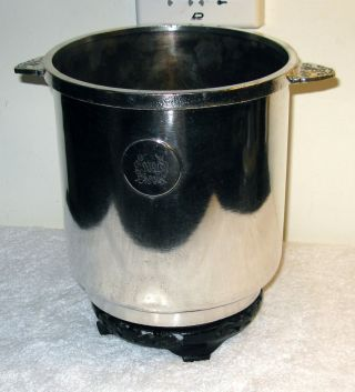 C.  1930s Waldorf Astoria Hotel Nickel Silver Haber & Son Champagne Or Ice Bucket photo