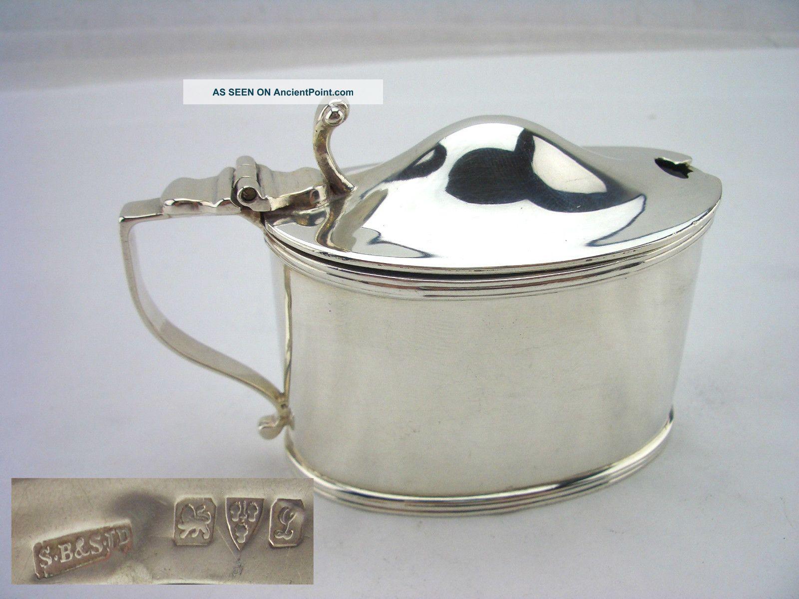 Chester Silver Mustard - 1911 - Blankensee & Sons Mustard Pots photo
