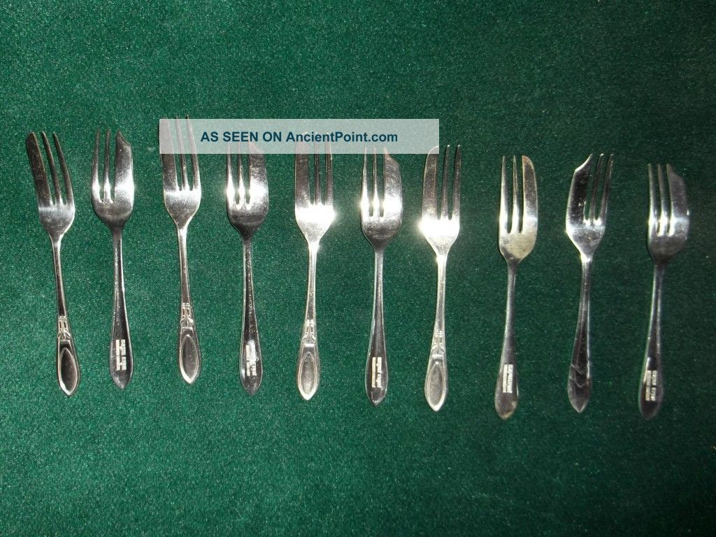 Shiffield England Set Of 10 Oyster Forks B G Ltd Epns And Ms Ltd Epns Other photo