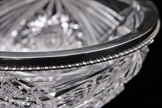 Hendery Canadian Birks Sterling Silver American Brilliant Period Cut Glass Bowl photo