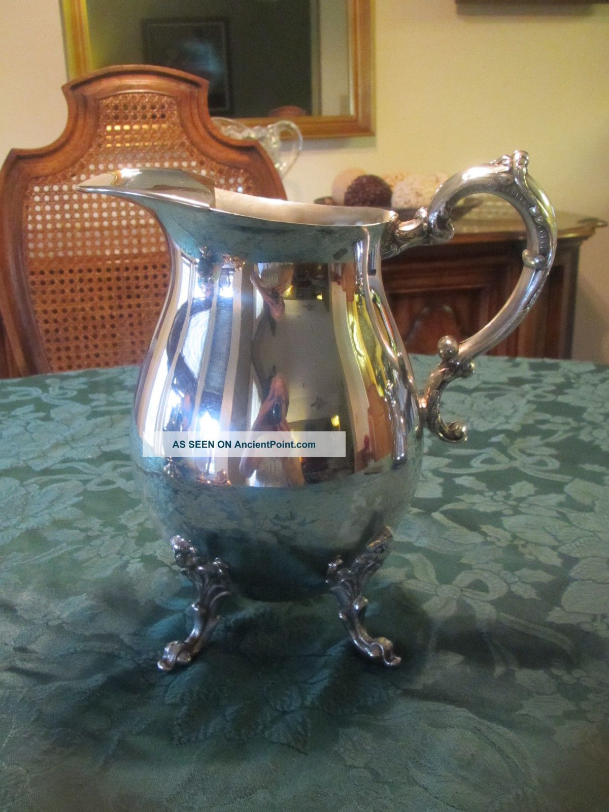 Sheridan Silver Plated Pitcher With Ice Catcher Other photo