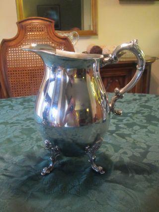 Sheridan Silver Plated Pitcher With Ice Catcher photo