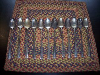Wallace Brothers Plate Aa Set Or 12 Iced Tea Spoons 1938 Roseanne photo