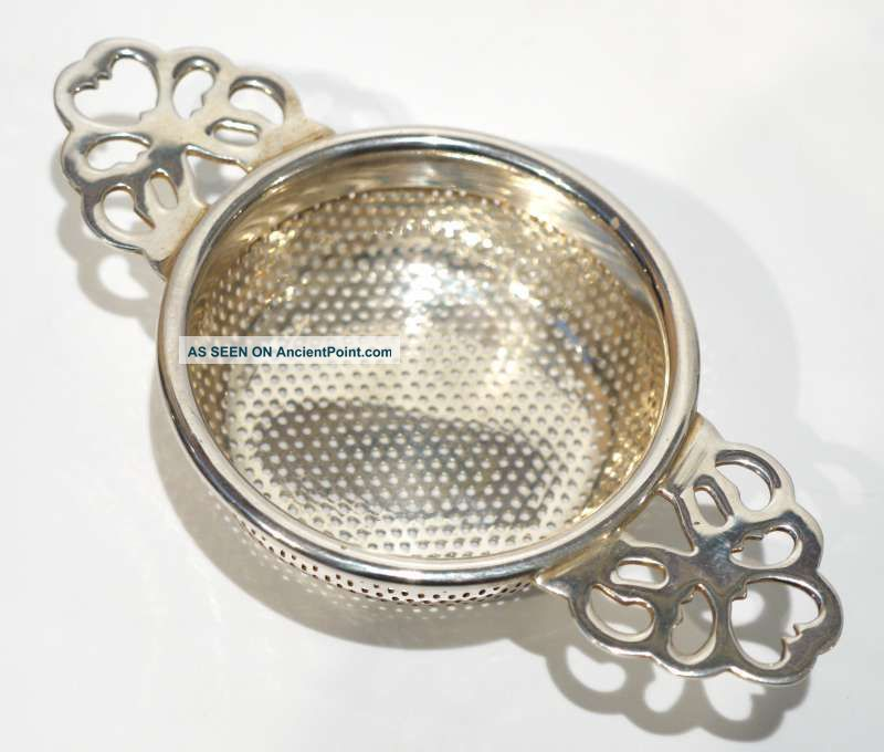 Antique / Vintage Silver Plated Tea Strainer. Other photo