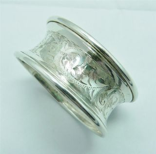 1912 Solid Silver Napkin Ring By Joseph & Richard Griffin photo