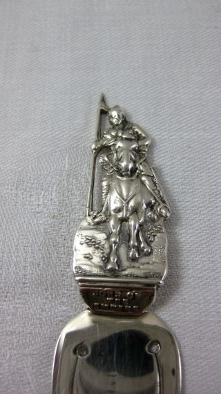 Solid Silver Trowel Bookmark - - Crusader - - Hallmarked: - Birmingham 1899 photo