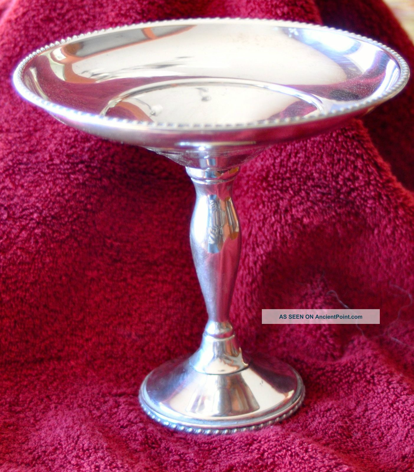 Fisher Sterling Compote - 7.  20z,  Weighted Bowls photo