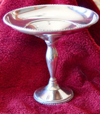 Fisher Sterling Compote - 7.  20z,  Weighted photo