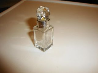 Antique Silver Collar Glass Perfume Bottle Hallmarked B,  Ham 1906 W Vale & Son photo