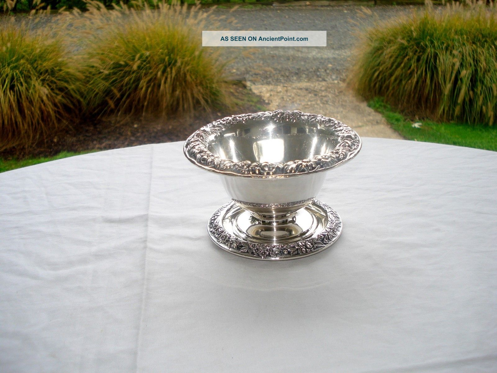Antique S.  Kirk Repousse Sterling Silver Mayonnaise Bowl W/undertray,  6.  6 Ozt Bowls photo