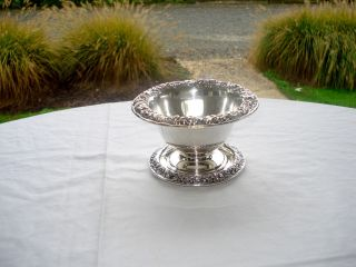 Antique S.  Kirk Repousse Sterling Silver Mayonnaise Bowl W/undertray,  6.  6 Ozt photo
