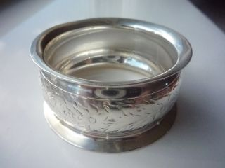 Victorian Solid Silver Napkin Ring - Chester 1898 photo