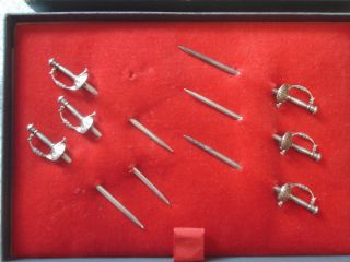 Vintage Tiffany & Co.  New York Sterling 6 Swords Martini Cocktail Pick Server photo