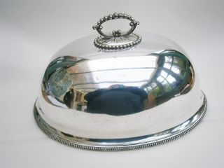 Edwardian Silver Plated Food Dome/cover photo