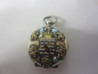 Late 19th Century Silver Plated Sovereign Case Luxembourg photo