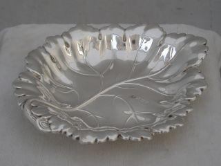 Lovely Elizabeth Ii 1972 Hallmarked Silver Very Pretty Leaf Dish 78g photo