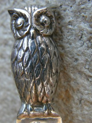 Vintage Solid Sterling Silver 925 Hallmarked Bookmark With Owl/bird Interest photo