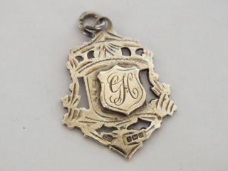 Antique Silver Fob - Monogram ' Gh ' - 1915 photo