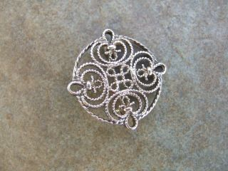 Vintage Sterling Silver Celtic Knot Brooch photo