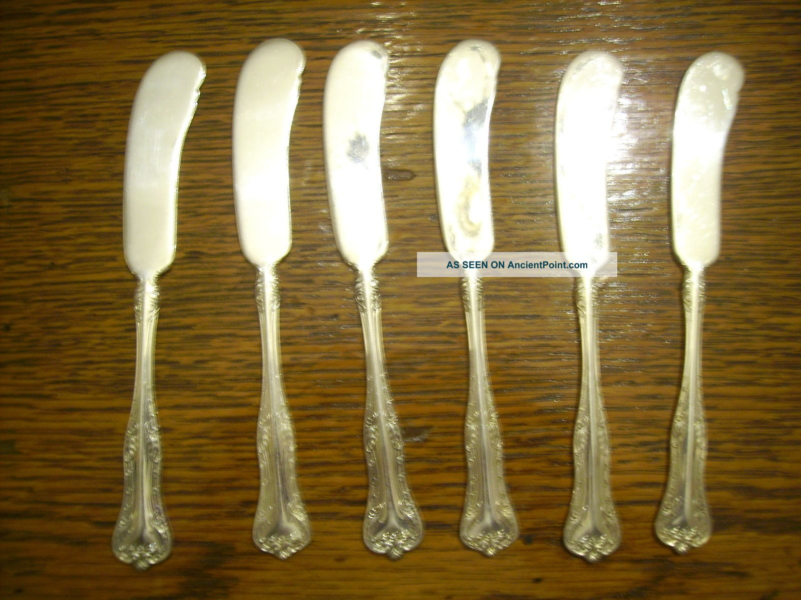 6 National Silverplate 1908 Queen Elizabeth Individual Butter Spreader Knives National photo