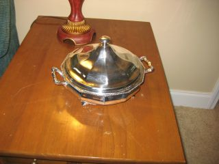 Vintage Reed & Barton Silver Plate No.  710 Serving Dish With Bowl And Liner photo