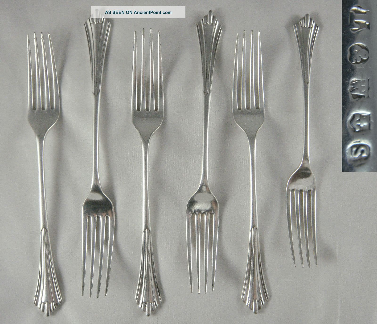 6 Quality Antique Victorian Lee Wigfull Silver Epns Albany Dinner Dessert Forks Other photo
