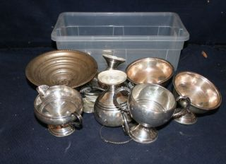 Antique Lot Sterling Silver Items - 328 Grams - Scrap & Not Scrap photo