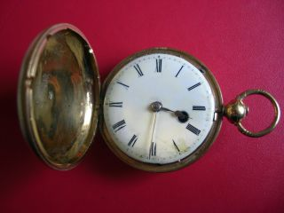 Fine Georgian Verge Fusee Gilt Cased Full Hunter Pocket Watch C1780 photo