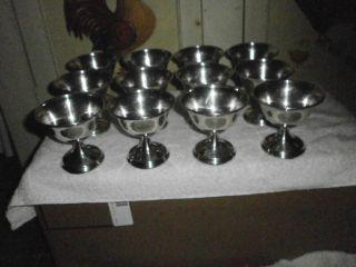 12 Hamilton Sterling Silver Compote Bowls (840 Grams) photo