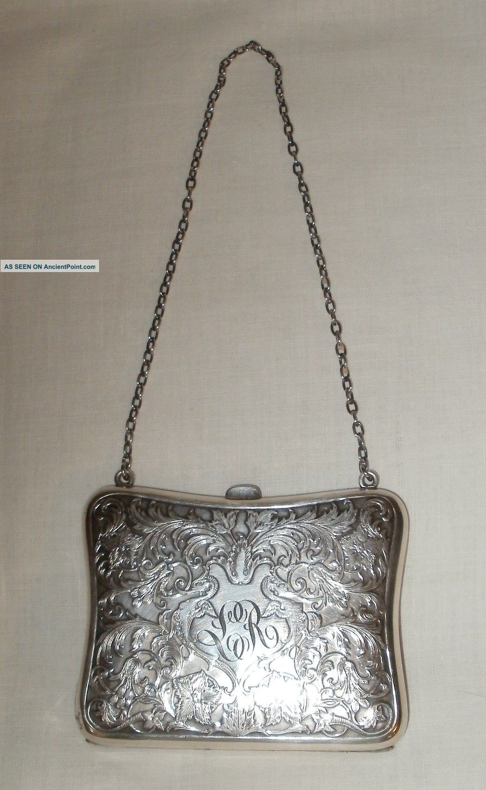 Antique Sterling Silver Dance Card Coin Opera Purse Card Cases photo