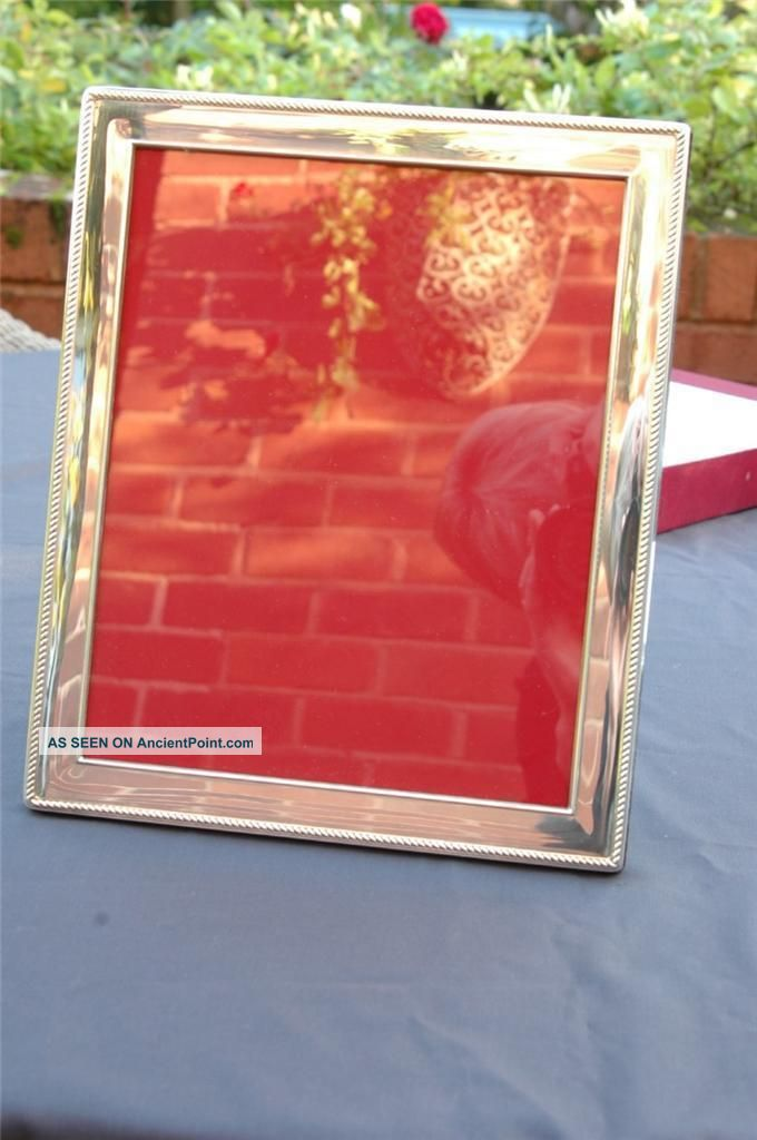 Very Large Silver Photo Frame With Rope Edge - Roberts & Dore - Sheffield 2002 Frames photo