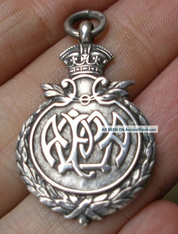 Solid Sterling Silver Cross Country Fob Medal Birmingham 1926 See Photos Pocket Watches/ Chains/ Fobs photo