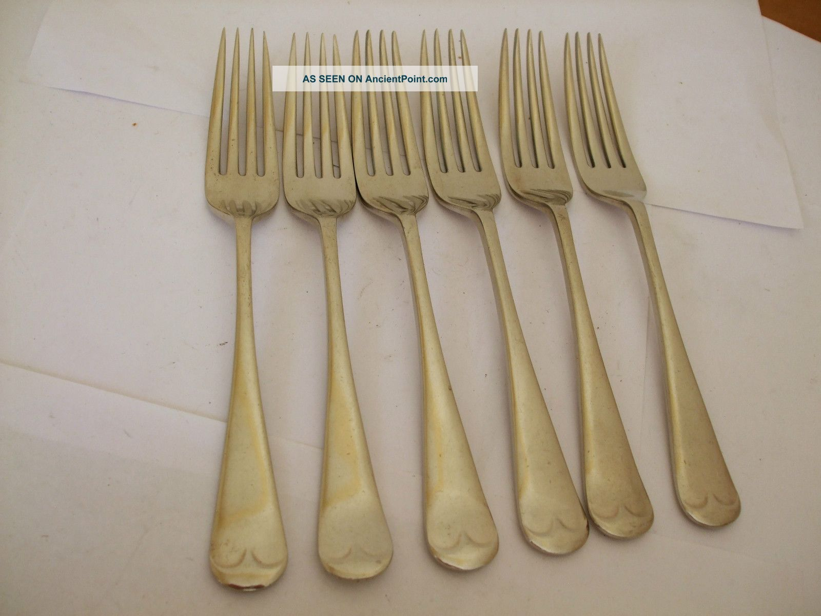 Vintage Nickel Silver 6 Forks Old English - 7.  75 Inches Stain Resist Rodgers Other photo