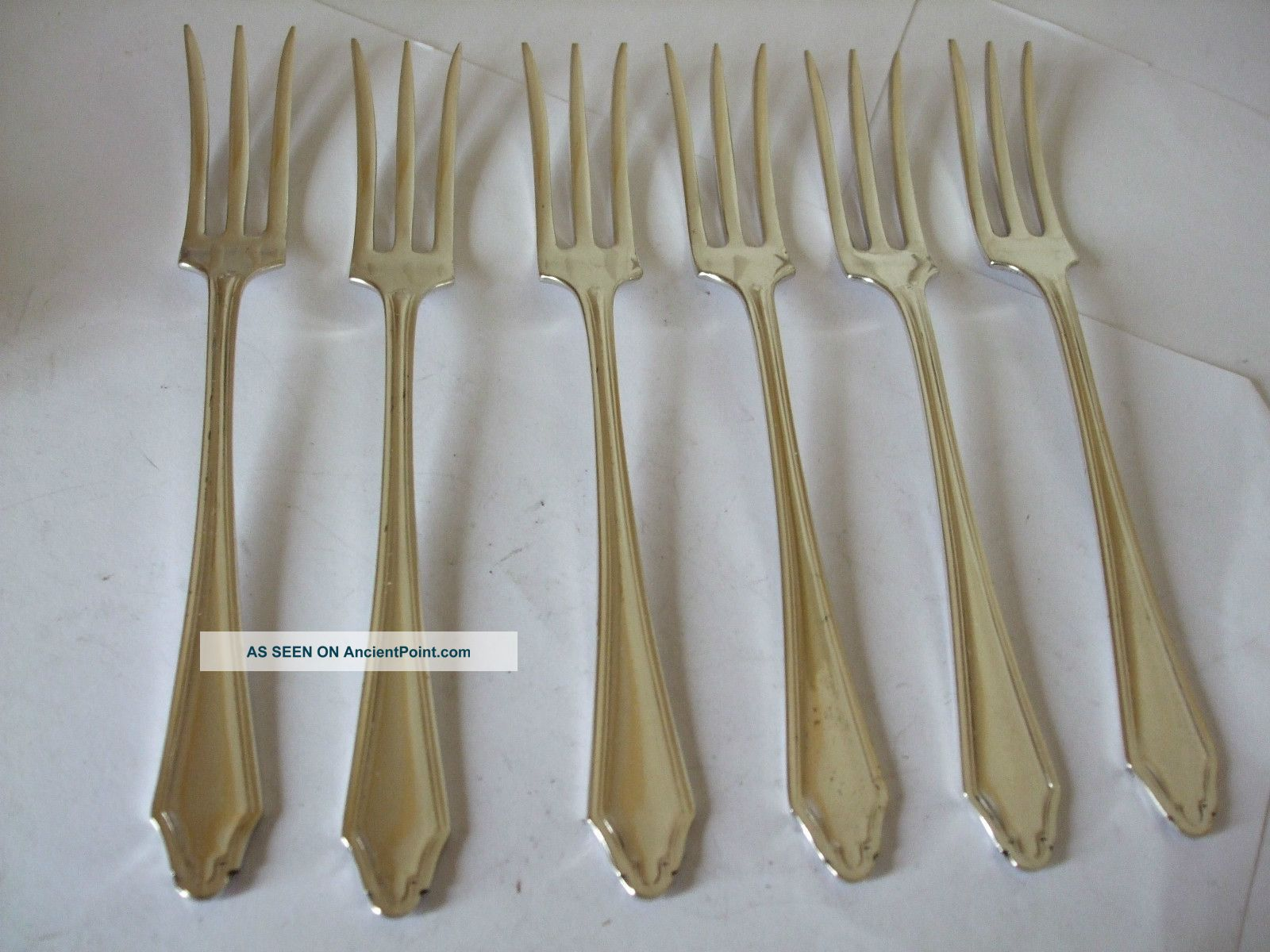Vintage Silver Plate Appetizer Canapes Hors D ' Oeuvres Forks Set Of 6 Epns Other photo