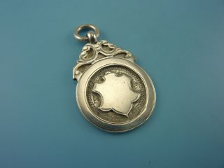 Vintage Sterling Silver Watch Chain Medal - 1930 photo