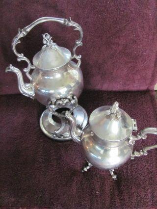 Antique Royal Sheffield Silver - Coffee - Tea Service W/holder (s.  P. photo
