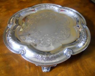 Elkington,  Mason & Co. ,  Birmingham England 1859 Silver Plated Footed Tray photo