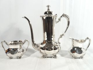 Antique 1894 Forbes Meriden Silver Espresso Demitasse Coffee/tea Set Pot Service photo