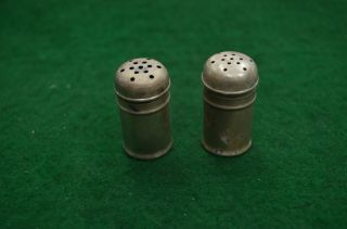 Set Of 2 Sterling Silver Salt And Pepper Shakers photo