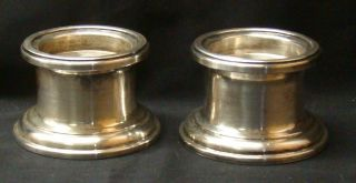 Set Of Gorham Yc3005 Silverplate Candle Holders photo