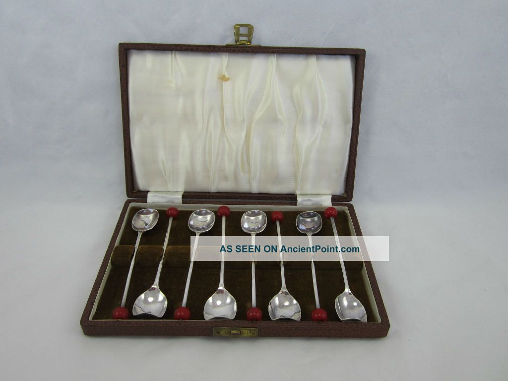 Vintage Set Of 8 English Silverplate Demitasse Spoons United Kingdom photo