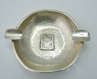Vintage Solid Silver San Judas T Ashtray Mayan Design photo