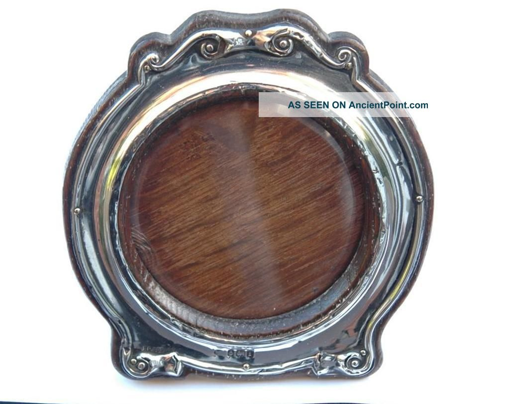 Pretty Round Silver Photo Frame - William Adams Ltd - Birmingham 1905 Frames photo
