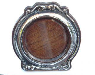 Pretty Round Silver Photo Frame - William Adams Ltd - Birmingham 1905 photo
